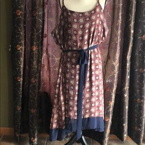 Sleeveless slip dress and lined!